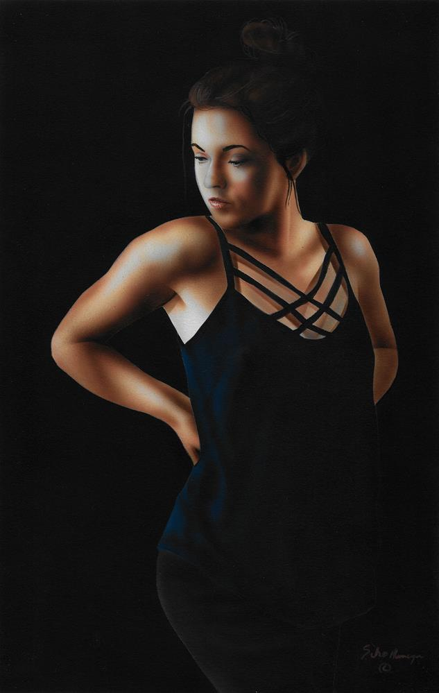 """Woman in Shadow"" original fine art by Fred Schollmeyer"