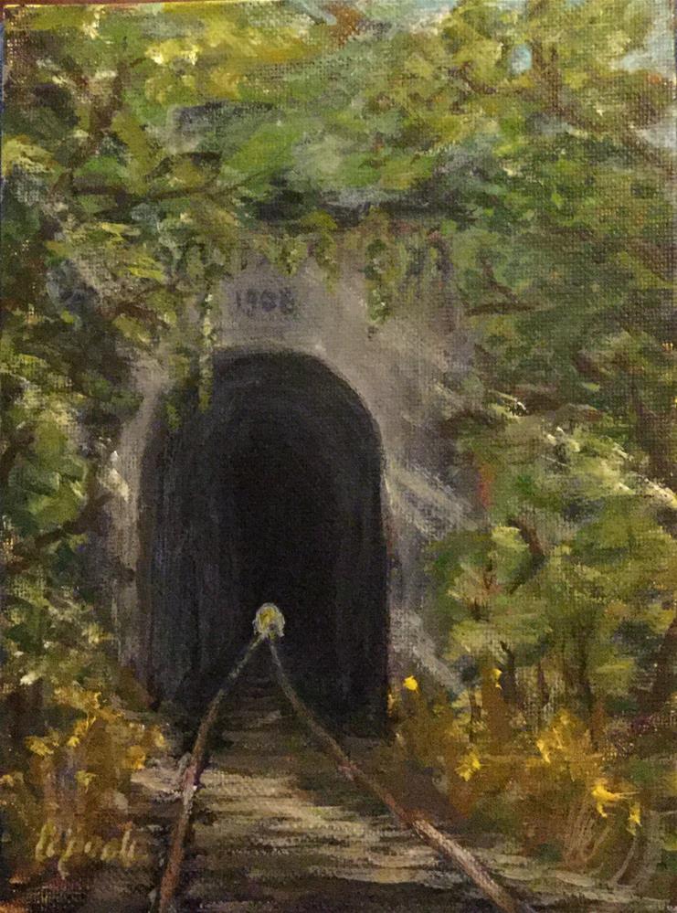 """Brush Tunnel"" original fine art by T.C. Poole"