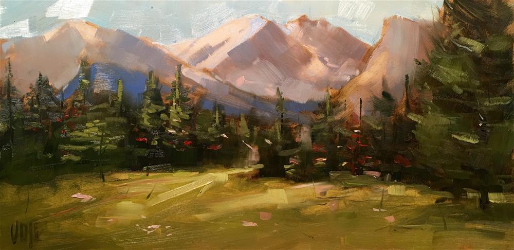 """#353 The Rockies"" original fine art by Patty Voje"