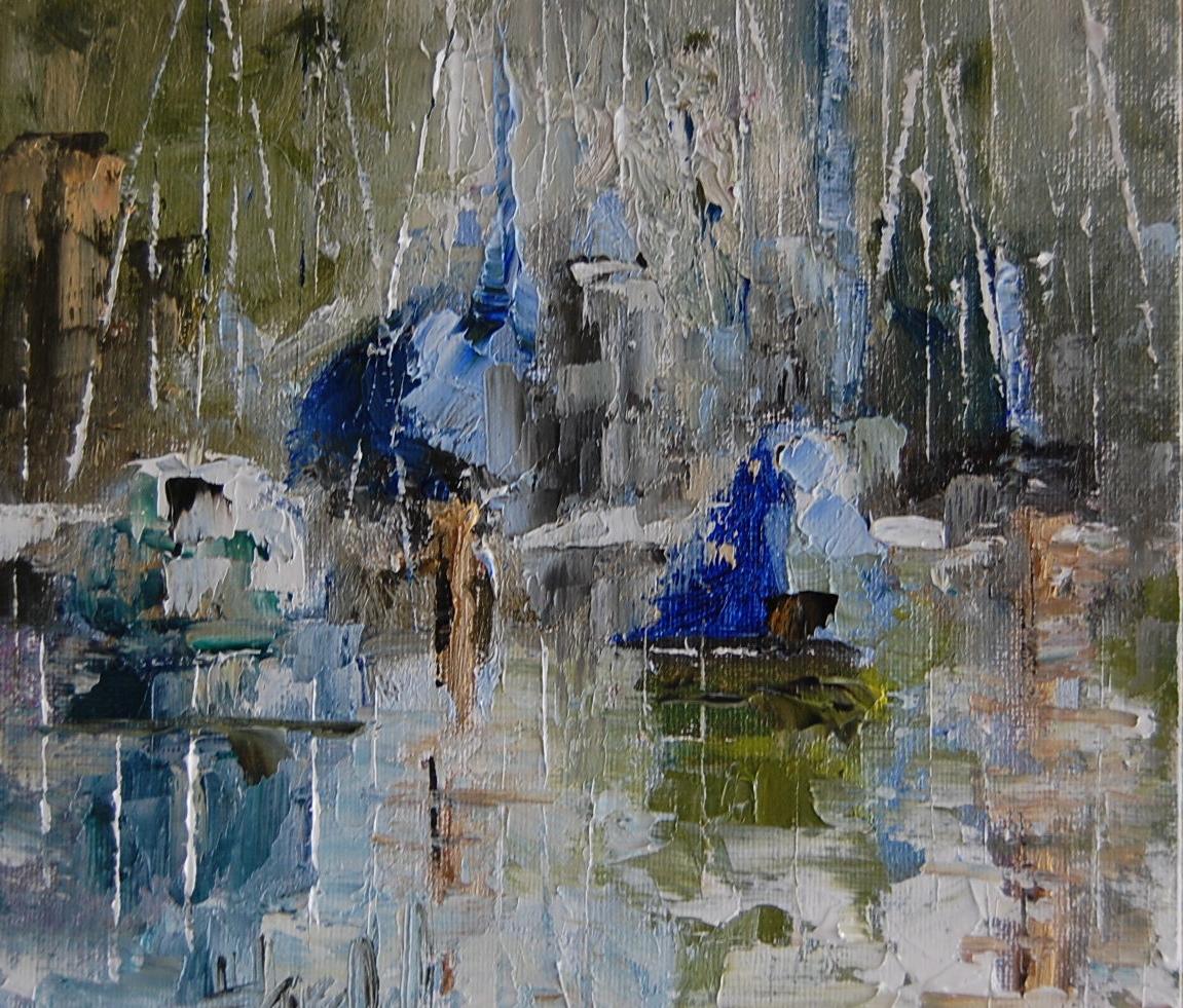 """Abstract of Santa Cruz"" original fine art by Deborah Harold"