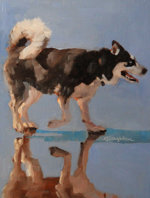 """Maya At The Beach"" original fine art by C J Roughton"
