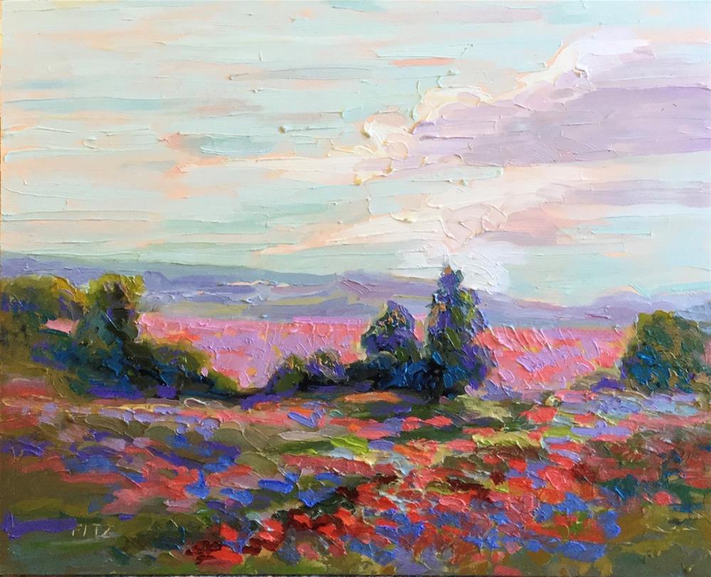 """Impasto Landscape Study 30"" original fine art by Charlotte Fitzgerald"
