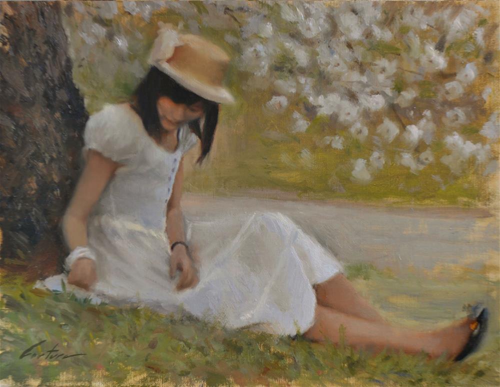 """Beneath Sakura"" original fine art by Phil Couture"