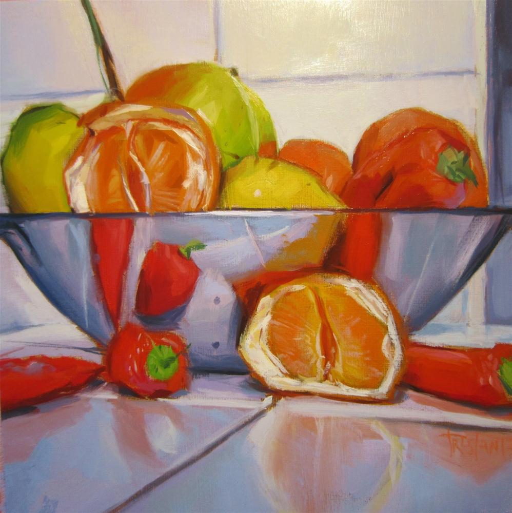 """Red peppers"" original fine art by Víctor Tristante"
