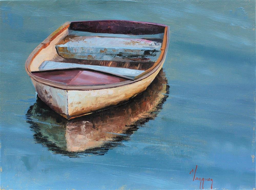"""""""Boat and it's reflection """" original fine art by Marco Vazquez"""