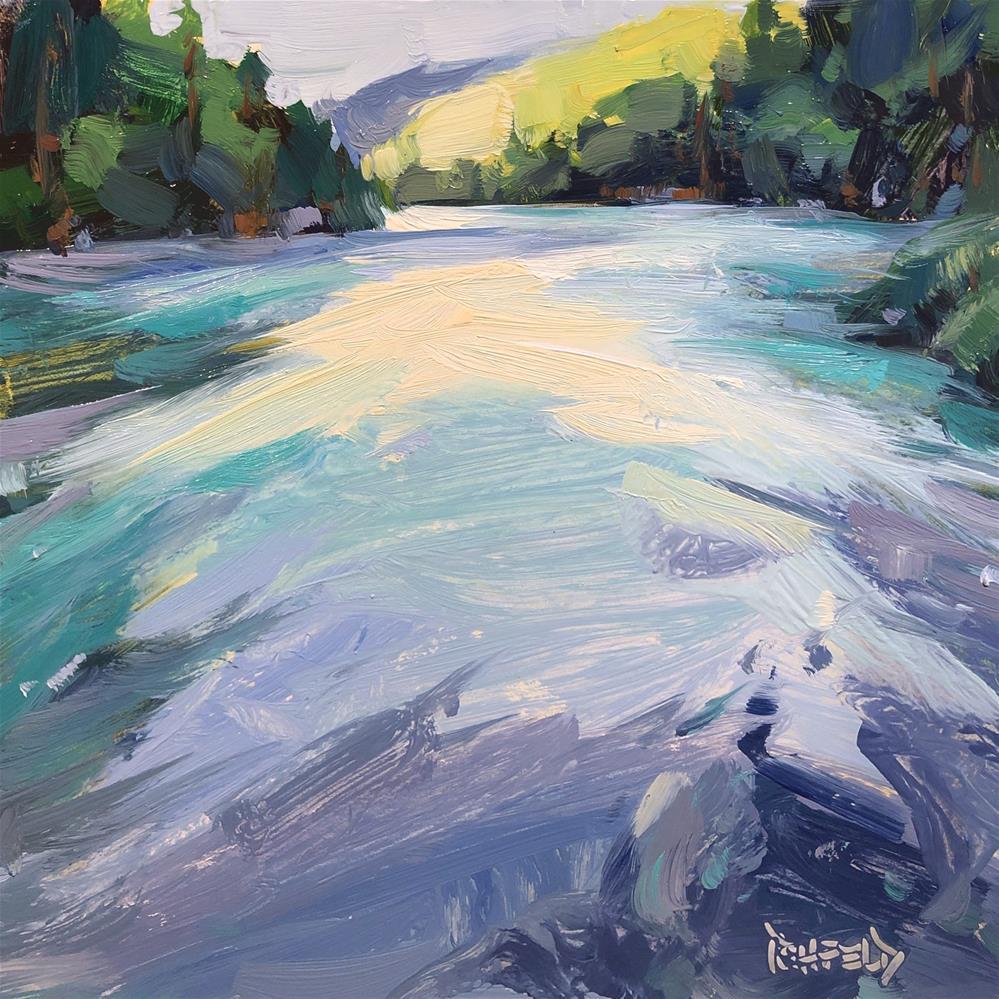 """Swirling Waters"" original fine art by Cathleen Rehfeld"