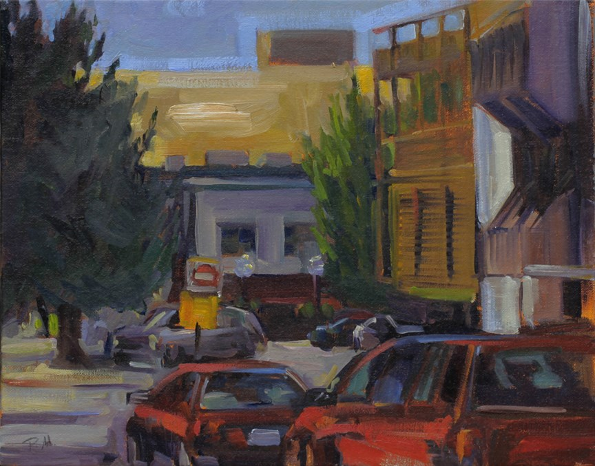 """Park Street, Looking South"" original fine art by Patti McNutt"