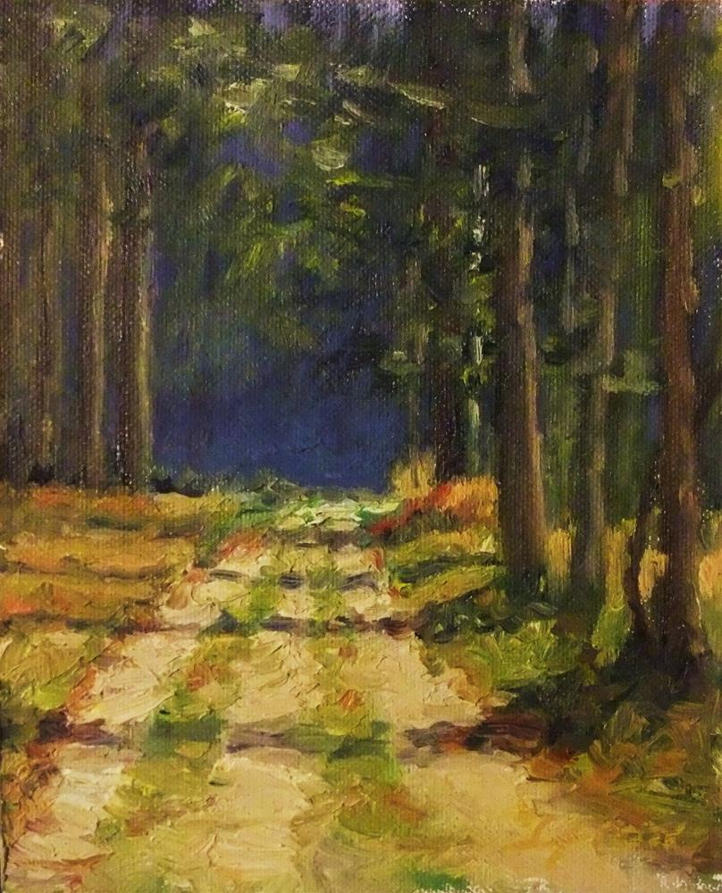 """Forest walk"" original fine art by Michael Sason"