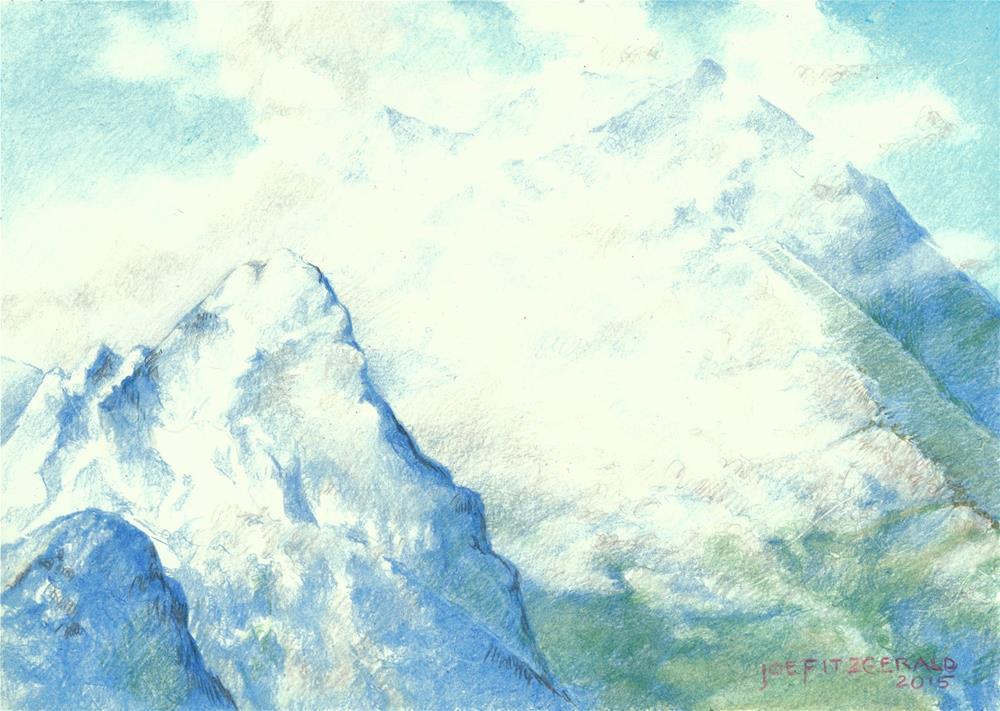 """""""Obersalzburg"""" original fine art by Joe Fitzgerald"""