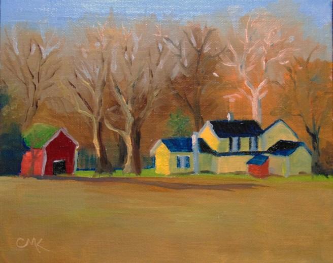 """The Neighbor's House"" original fine art by Catherine Kauffman"