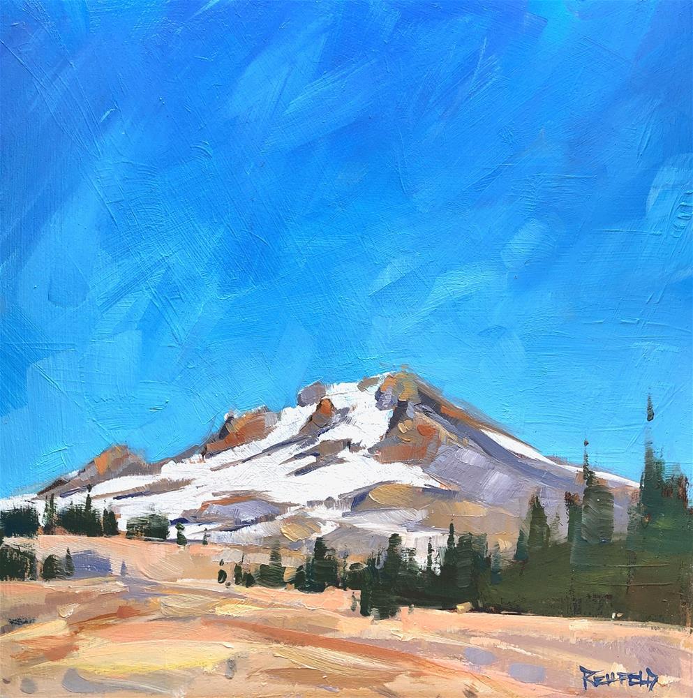 """Mt Hood"" original fine art by Cathleen Rehfeld"