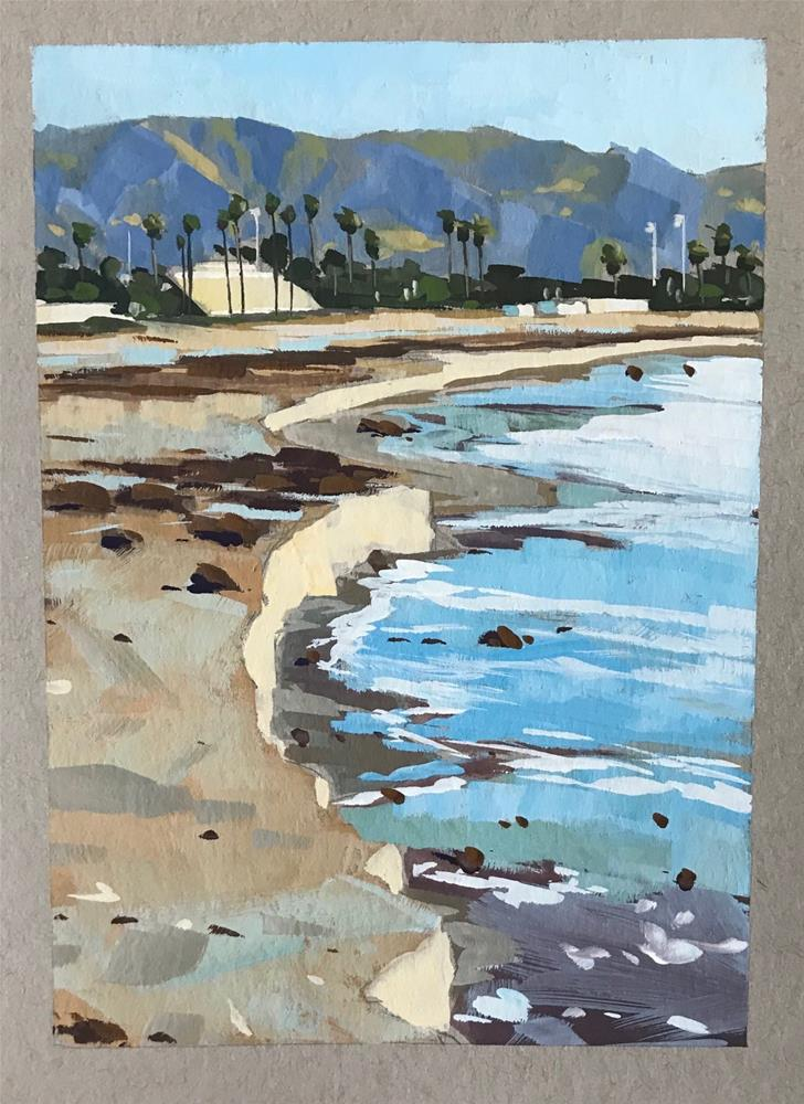 """Santa Barbara Tide"" original fine art by Sharon Schock"