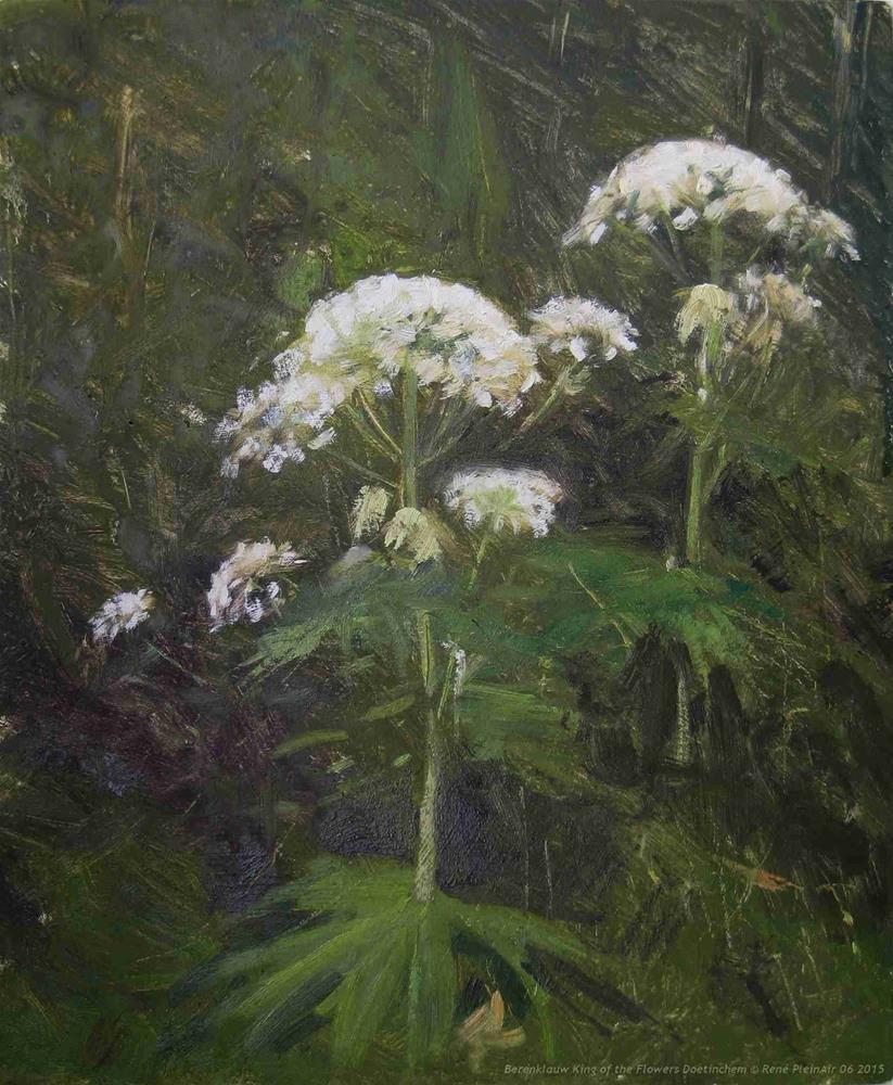 """Giant Hogweed King of the Flowers Doetinchem The Netherlands"" original fine art by René PleinAir"
