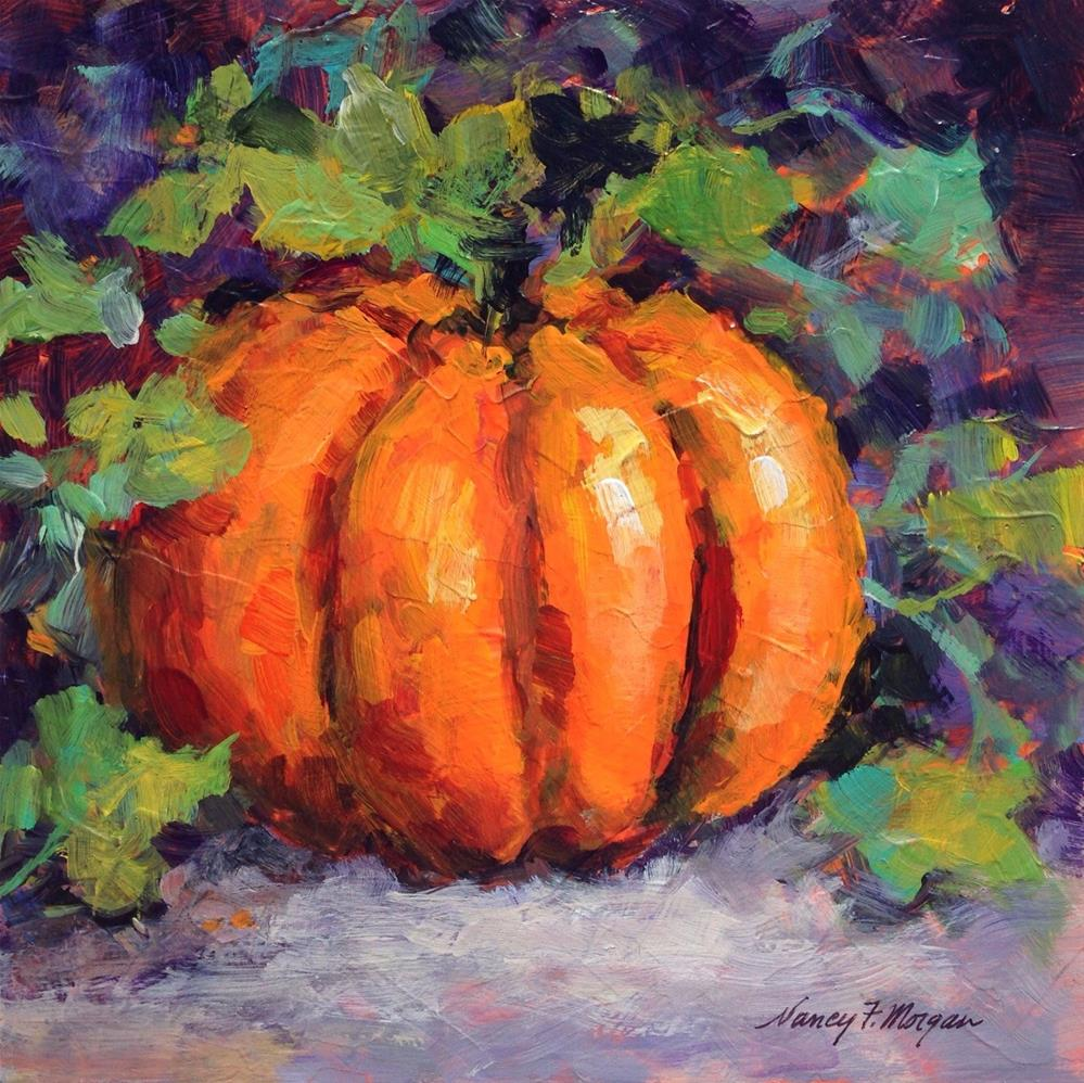 """The Great Pumpkin"" original fine art by Nancy F. Morgan"