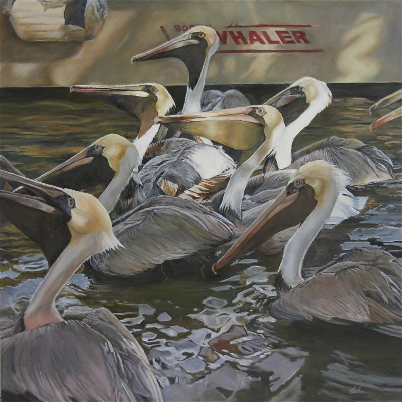 """Feeding time"" original fine art by Elaine Hahn"