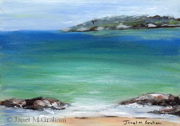 """""""Seascape 3 ACEO"""" original fine art by Janet Graham"""