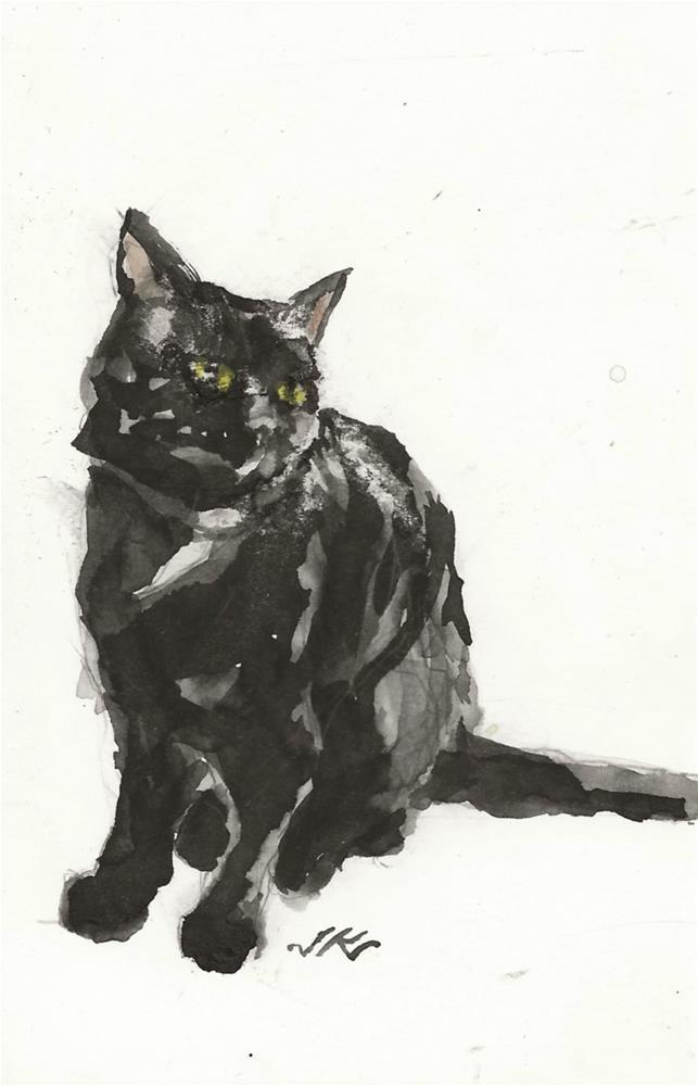 """Daily Cat 183"" original fine art by Jean Krueger"