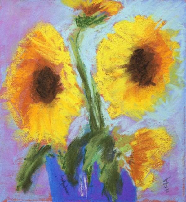 """Sunny Group"" original fine art by Jane Frederick"