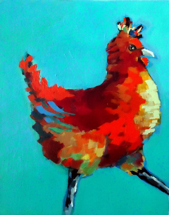 """""""Alright. That Does It!"""" original fine art by Laurie Mueller"""