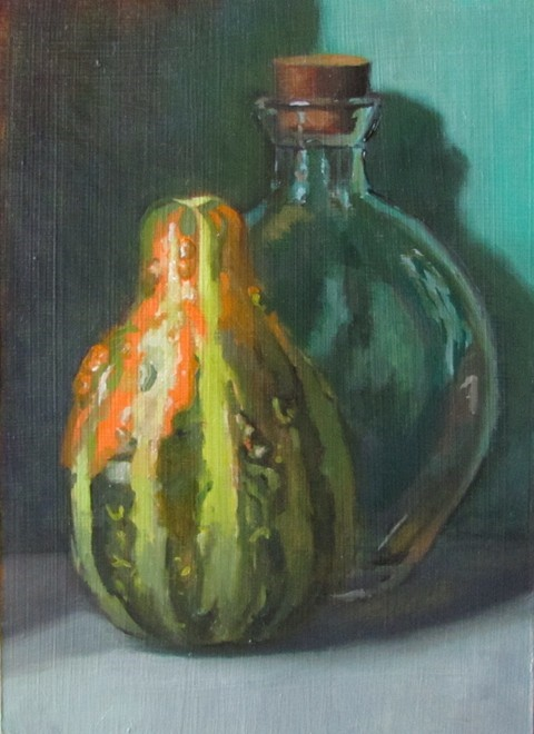 """39 - Gourd and Bottle"" original fine art by Edward Watson"