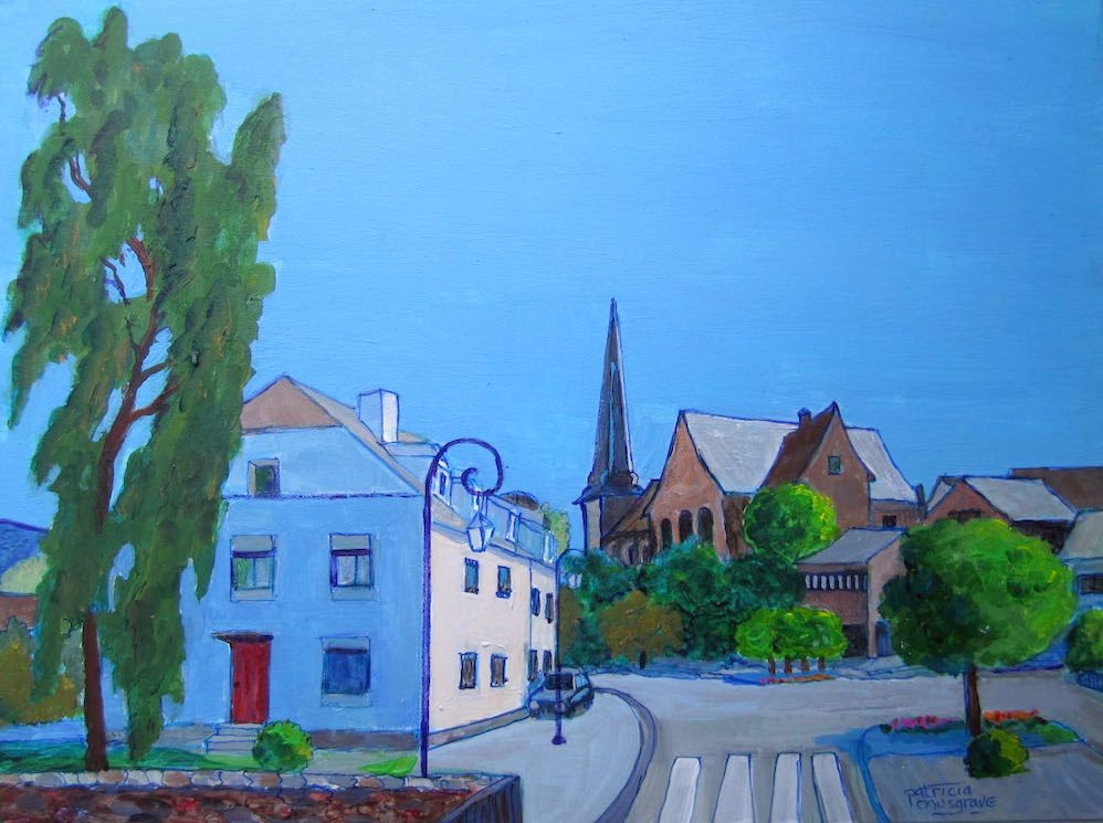 """Cityscape, Wiltz, Luxerbourg"" original fine art by Patricia Musgrave"