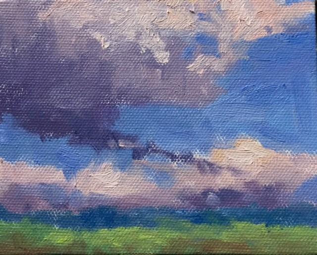 """""""Ten Tiny Cloudscapes #2"""" original fine art by Victoria  Biedron"""