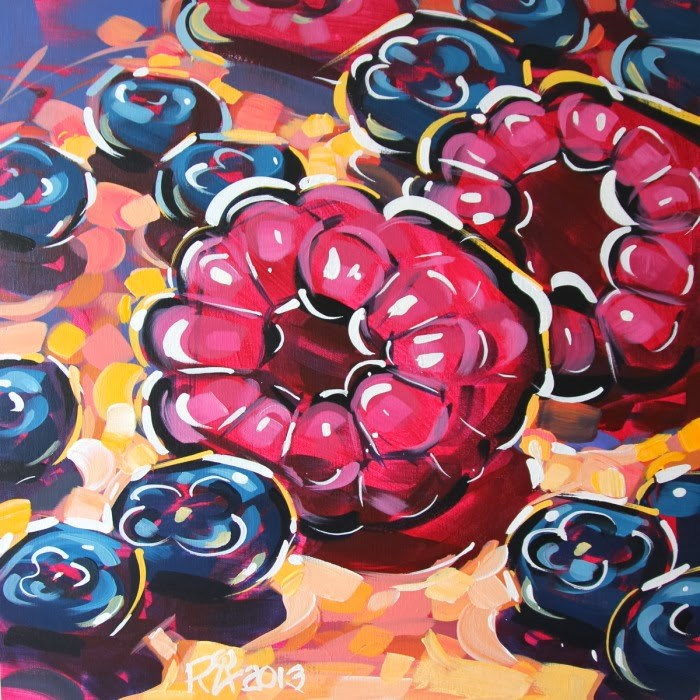 """Berry Abstraction 2"" original fine art by Roger Akesson"