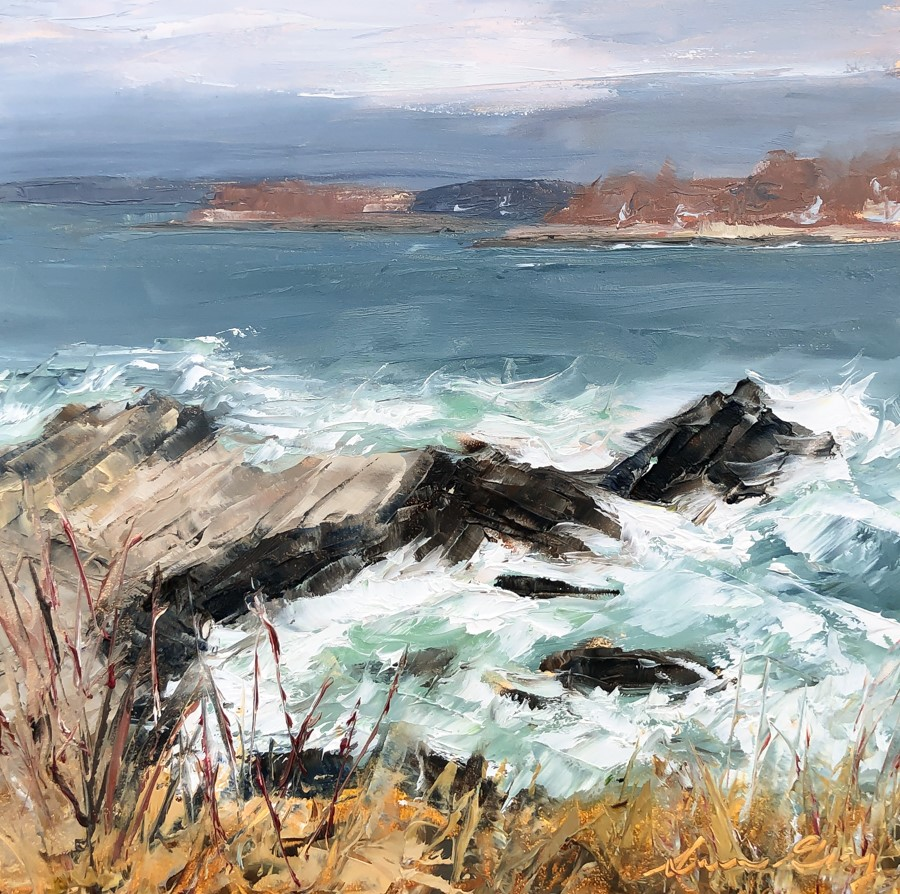 """""""#205 - Looking North - Fort Williams, ME"""" original fine art by Sara Gray"""