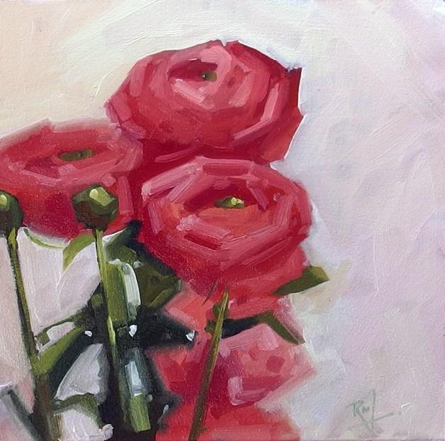 """No 823 Spring Tease"" original fine art by Robin J Mitchell"