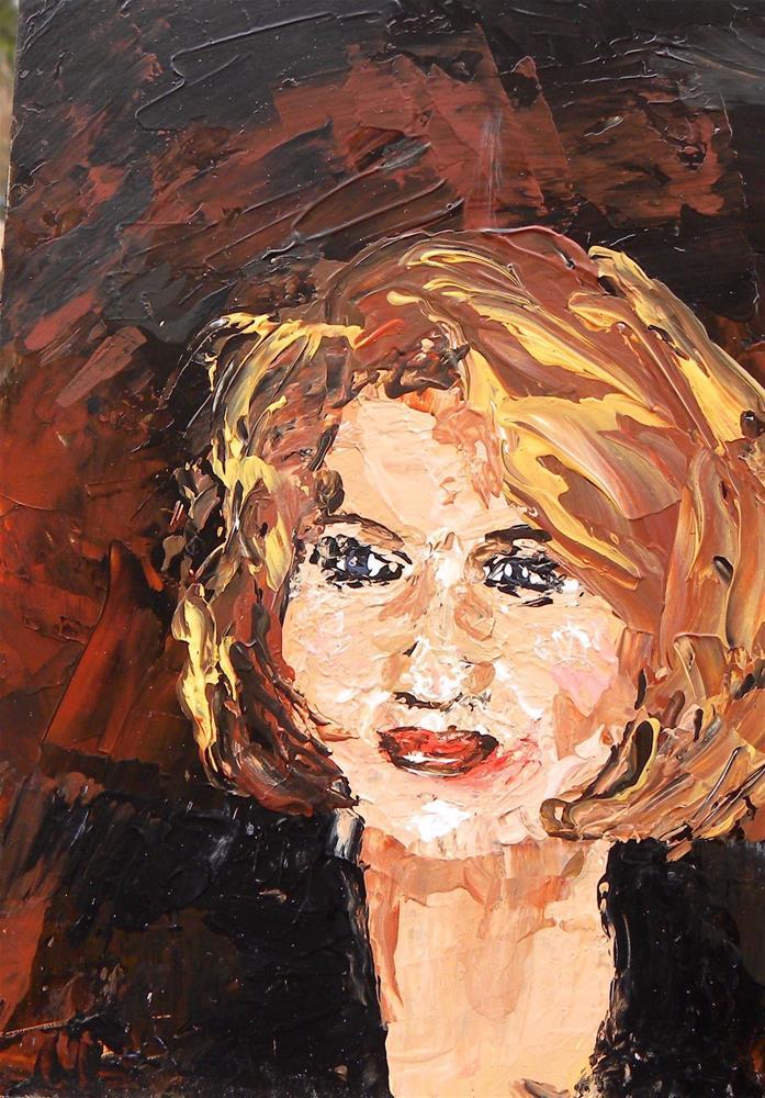 """""""Palette Portrait"""" original fine art by cheryl buhrman"""