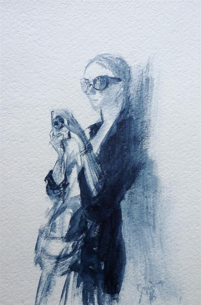 """Sketch4"" original fine art by Elena Senina"