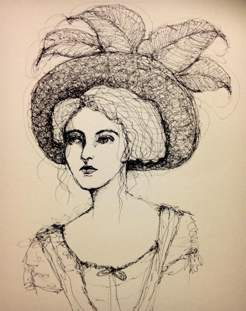 """Hats And Feathers"" original fine art by Roberta Schmidt"