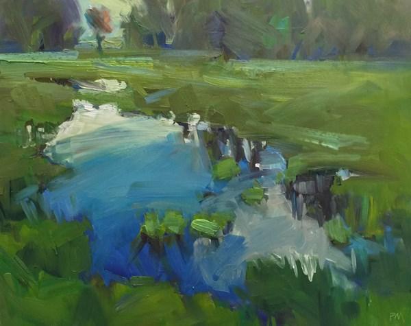"""The Amazon Trail Blues (and Greens)"" original fine art by Patti McNutt"