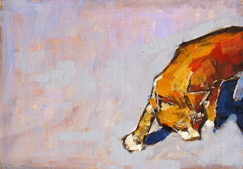 """""""Cat Painting Tuesday"""" original fine art by Kevin Inman"""