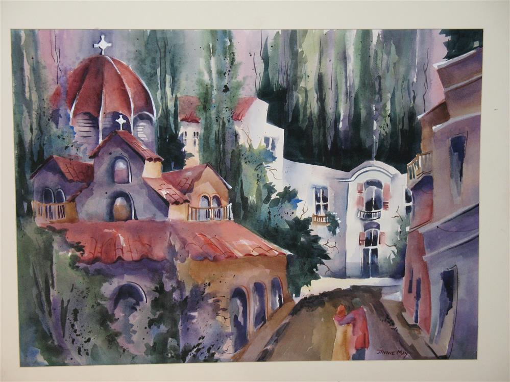 """Agia Ekaterini (Saint Catherine) Church , Athens Greece"" original fine art by Jinnie May"