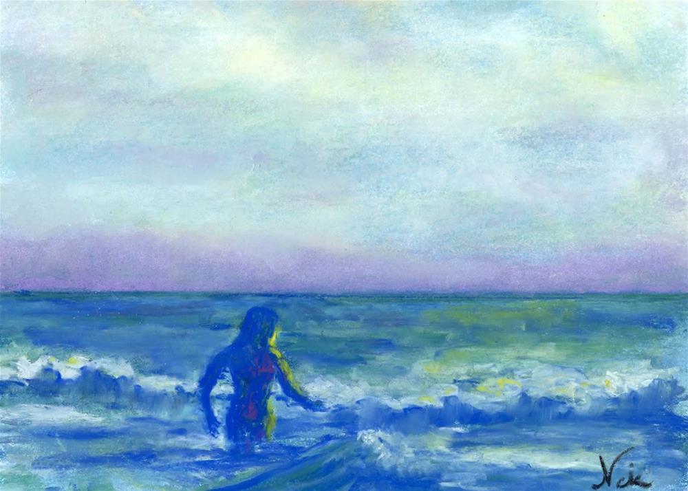 """Mermaid"" original fine art by Niki Hilsabeck"