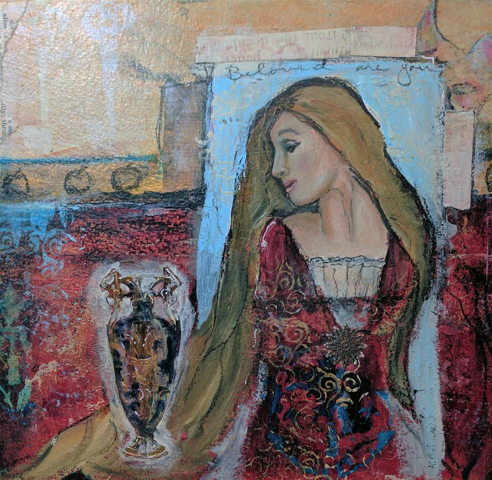 """""""Mary Magdelene"""" original fine art by Kathleen Barnes"""