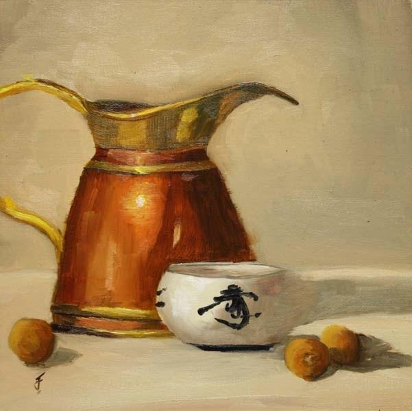 """Copper, Brass and Dragon Eyeballs"" original fine art by Jane Frederick"