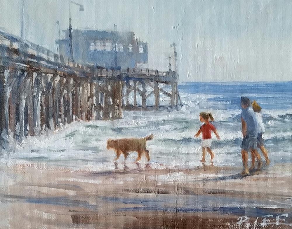 """""""Beach Walk"""" original fine art by Peter Lee"""