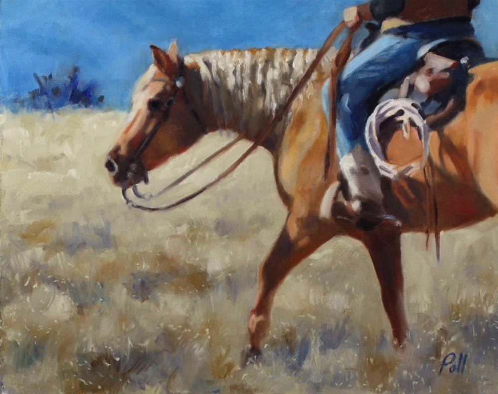 """""""Morning Ride (framed)"""" original fine art by Pamela Poll"""