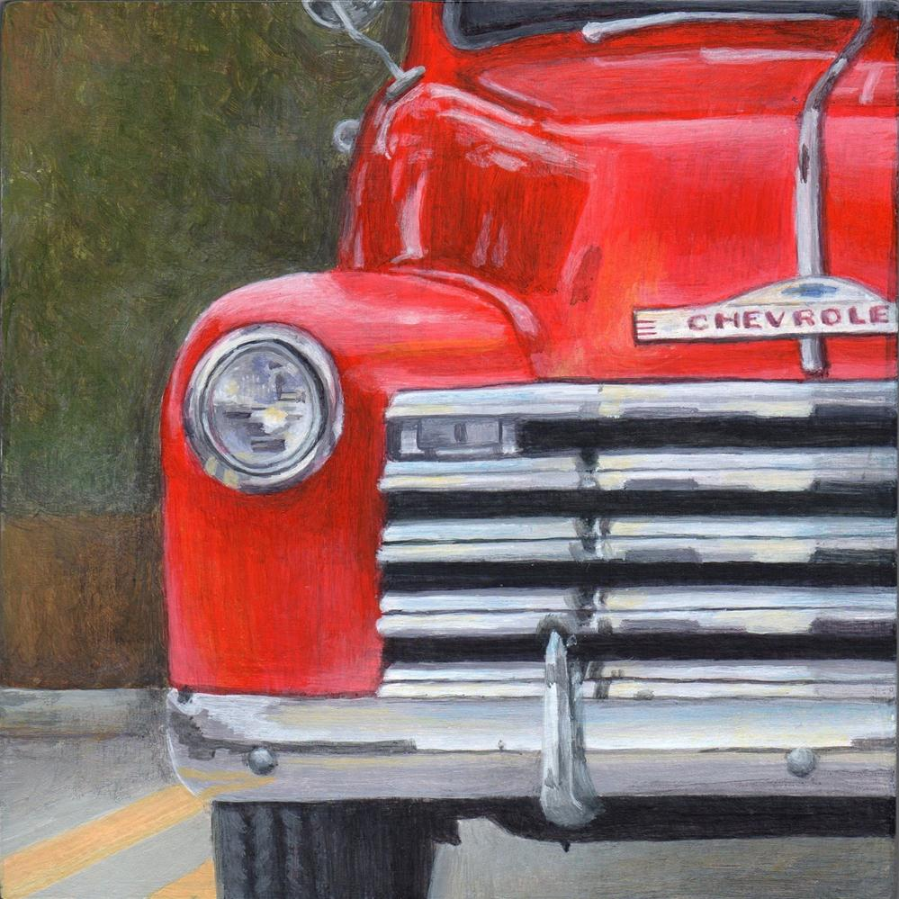 """51 Chevy"" original fine art by Debbie Shirley"