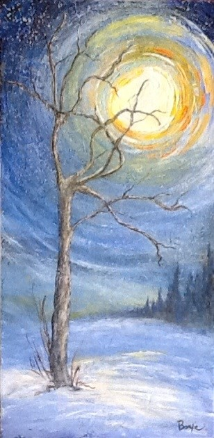 """""""Whispers of a Starry Night"""" original fine art by Maureen Bowie"""