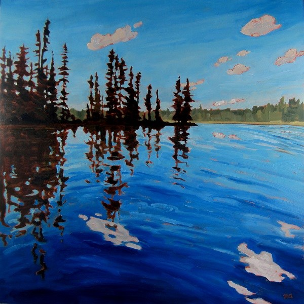 """On The Way Home, Lynx Lake"" original fine art by Nicki Ault"