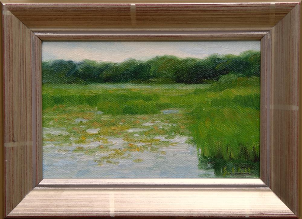 """A Quiet Marsh 4x6"" original fine art by Sharon Will"