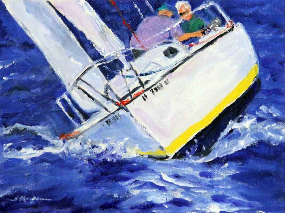 """""""Racing in the Wind"""" original fine art by Shelley Koopmann"""