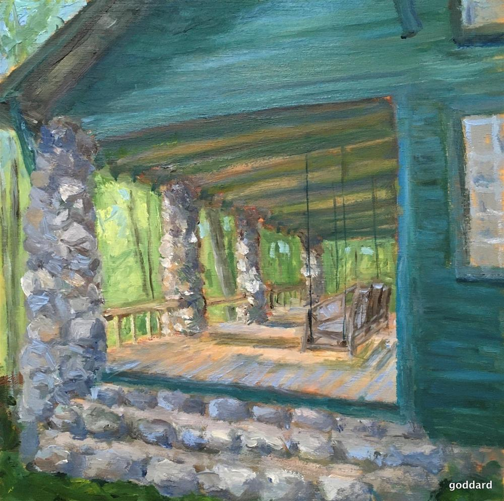 """The Big House"" original fine art by Shari Goddard Shambaugh"