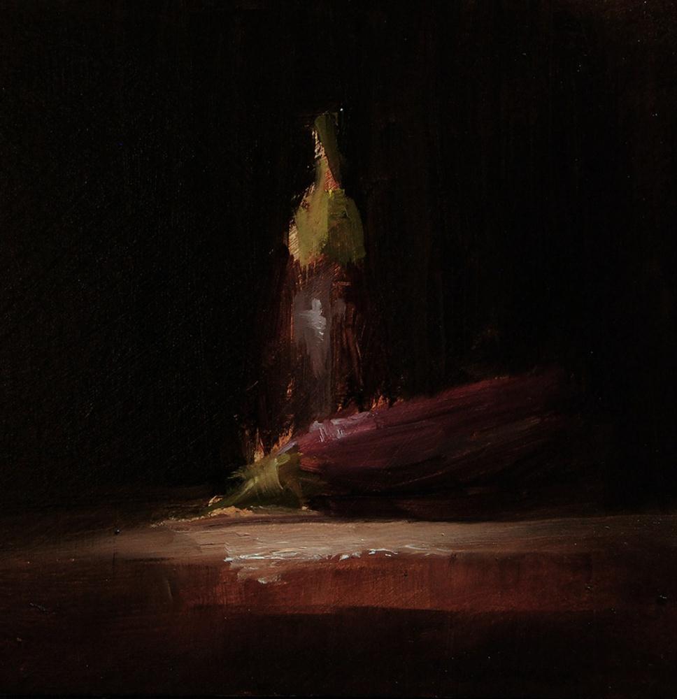 """Baby Aubergines - study"" original fine art by Neil Carroll"