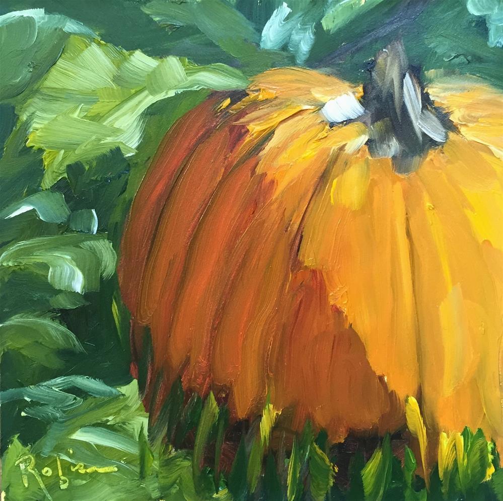 """Shadow Pumpkin"" original fine art by Renee Robison"