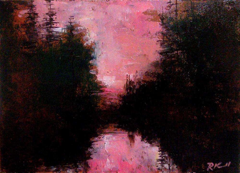 """Pink Sky"" original fine art by Bob Kimball"