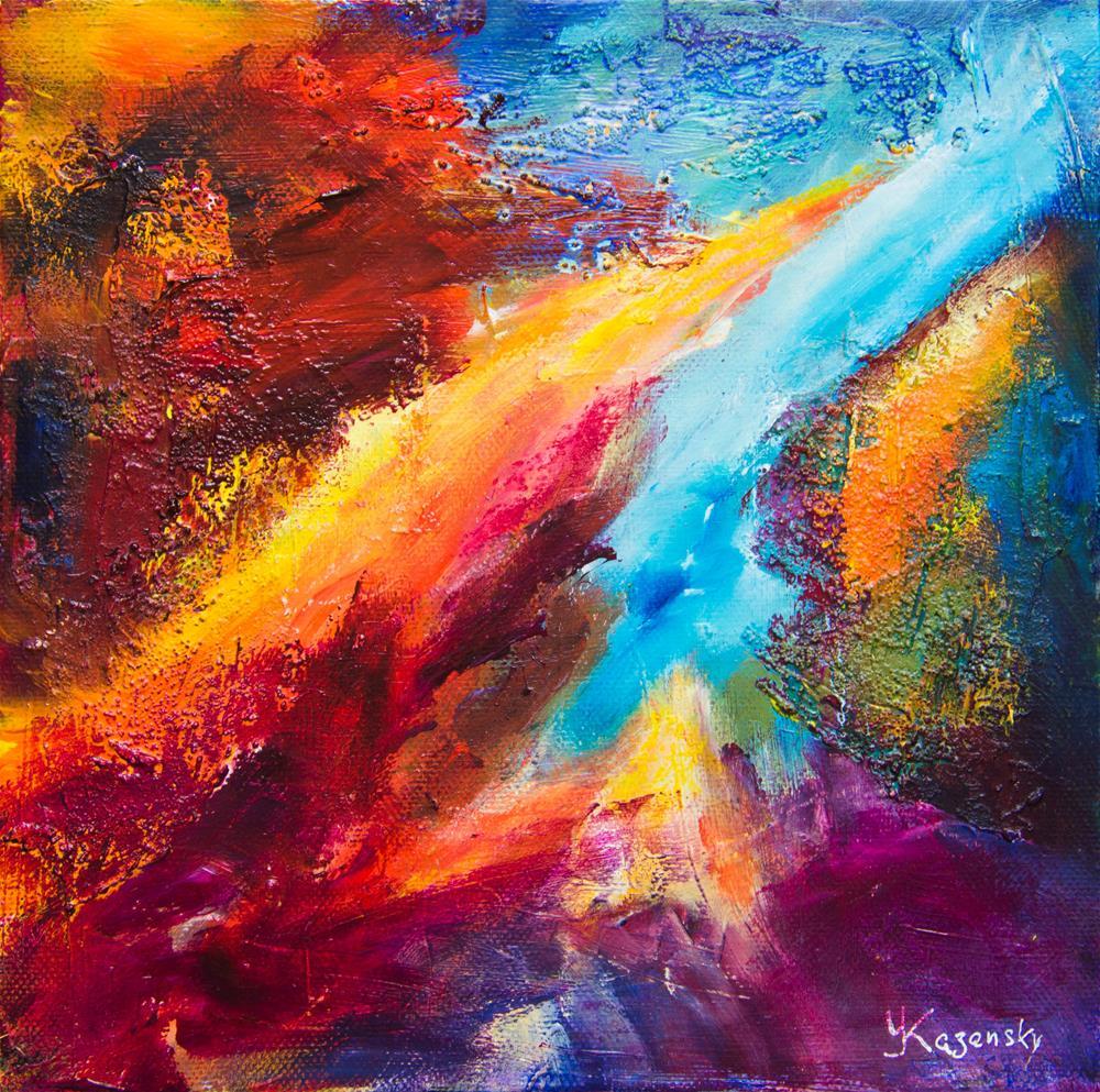 """Ionic River"" original fine art by Yulia Kazansky"